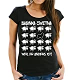 Siviwonder WOMEN T-Shirt BLACK SHEEP - BOLONKA ZWETNA - Hunde Fun Schaf schwarz S -34