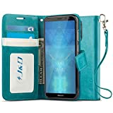 J&D Case Compatible for Huawei Mate 10 Lite Case, [Wallet