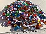 Rhinestone Paradise 600 Stück 1cm Große Mosaik Schmucksteine Selbstklebend Mosaik Runde Acryl-Steine Glitzer-Steine Glitzer-Sticker Brillanten Strass-Steine Bunt Bastelset