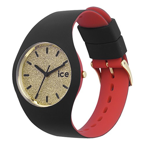 Ice-Watch – ICE loulou Gold Glitter – Women's wristwatch with silicon strap – 007238 (Medium)
