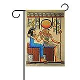 vinlin Garten Flagge Ägyptische Horus langlebiges Polyester Welcome Flagge Home Flagge 30,5x 45,7cm 71,1x 101,6cm, Polyester, 28x40(in)