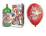 Ballongas Gasflasche 1,2+ 12Luftballons Flying 2Geburtstag Zwei Jahren