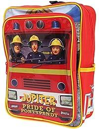 Preisvergleich für Trade Mark FS1021 Feuerwehrmann Sam - Kinder Rucksack - Feuerwehrauto Jupiter