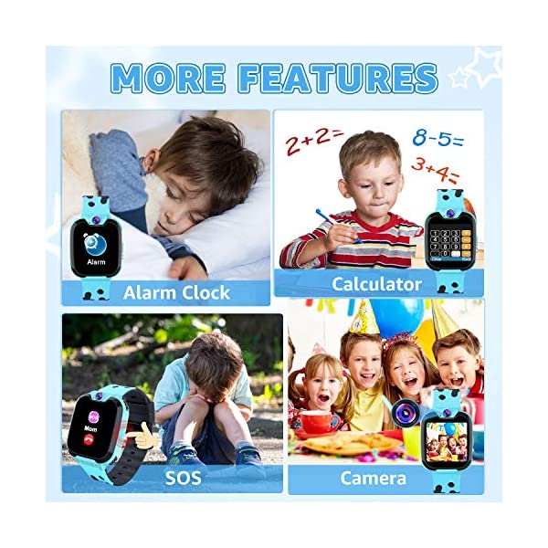Reloj GPS Niños Smartwatch Phone - Reloj de Pulsera Inteligente con Ubicación GPS LBS Reloj con Call Voice Chat SOS… 6