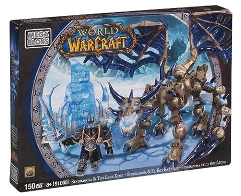 Megabloks - 91008U - Jeu de Construction - World Of Warcraft - Sindragosa et Le Roi Liche
