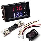 Digital Blau Rot LED Voltmeter Amperemeter Meter Aktuelle Shunt DC100V 100A