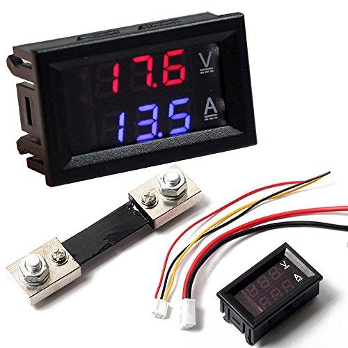 Digital Blau Rot LED Voltmeter Amperemeter Meter Aktuelle Shunt DC100V 100A Amperemeter Shunt