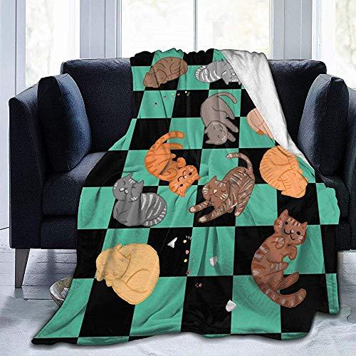July Katzen und Katzen und Katzen Ultra Soft Micro Fleece Blanket Anti-Pilling