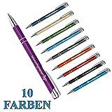 1 Metall Oleg Kugelschreiber mit Gravur des Namens - Geschenk-Idee Mitbringsel | Farbe lila