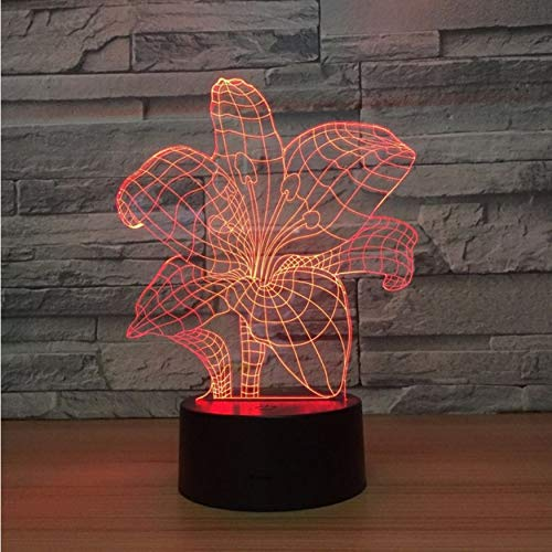 Novedad Luminaria Led Accesorios De Luz 3D Interruptor...