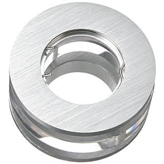 Einbauleuchte Halogen-Spot mit edlen Glaselementen rund Silber