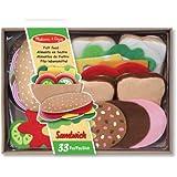 Melissa & Doug 13954 Felt Food Sandwich Set