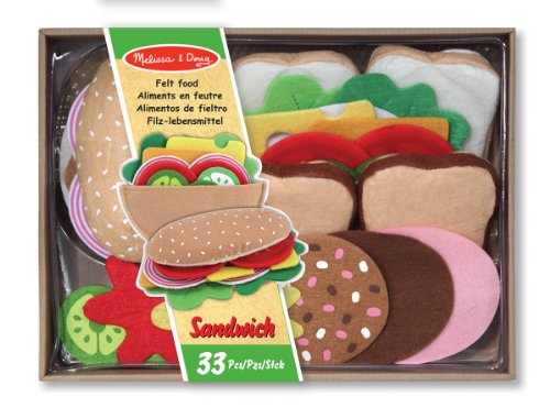Preisvergleich Produktbild Melissa & Doug - 13954 - Filz-Lebensmittel-Set für Belegte Brote