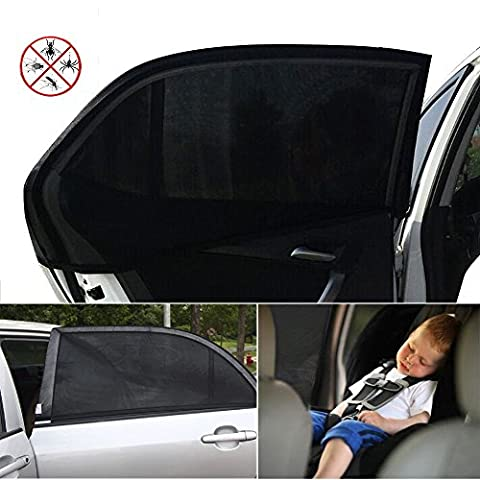 ieGeek Car Sun Shades Cover Car Window to Protect Your Baby, Children, Kids, Pet from Sun- Block UV Rays - 1 Set (2 pieces) - Fit Most Cars - without Clings or Suction Cups, Easy & Flexible to Use (Medium Size)