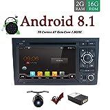 HD:1024*600 Android 7.1 Quad Core Double Din Voiture Stéréo Radid Navigation GPS pour Audi A4(2003-2011) Soutien Bluetooth RDS lien miroir DAB Subwoofer Sortie AV Wifi SWC 4G USB Gratuit CANCUS&Camera