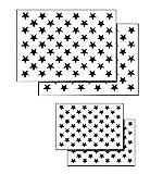 Acid Tactical® 4 Pack Spray Airbrush Malerei Schablonen Amerikanische Flagge 50 US Sterne Klein und groß