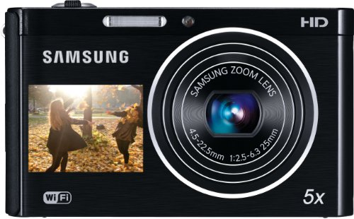 Samsung DV300F Smart-Digitalkamera (16 Megapixel, 5-fach opt. Zoom, 6,7 cm (3 Zoll) Display, Wifi, DualView) schwarz