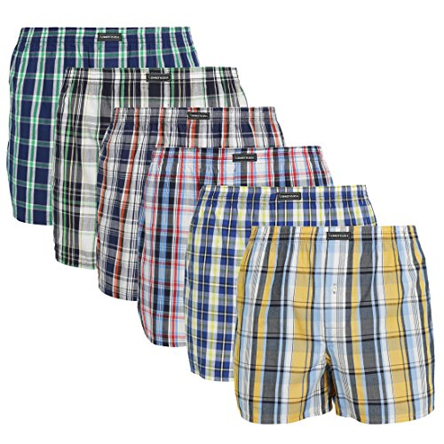 lower-east-american-style-boxer-hombre-pack-de-6-multicolor-grosse-karos-x-large