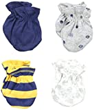 Best GERBER Beddings - Gerber Baby-Boys Newborn 4 Pack Mittens Sports, Blue Review