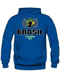 Shirt Happenz Fútbol Brasil V2 Sudadera con Capucha | Hombre | Fútbol | Equipo Nacional | Selección Nacional | Brasil | Seleção | Canarinho |…