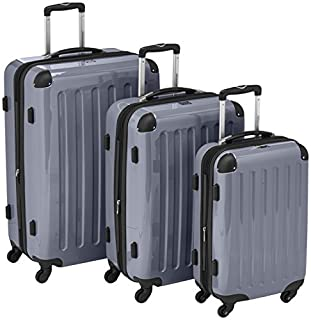 HAUPTSTADTKOFFER - Alex - Set of 3 Hard-side Luggages Trolley Suitces Expandable, (S, M & L), silver (B007AJSLV4) | Amazon price tracker / tracking, Amazon price history charts, Amazon price watches, Amazon price drop alerts