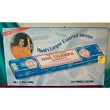 Satya Sai Baba–cartón contenedor de 12cajas de 15gramos de varillas de incienso Nag Champa