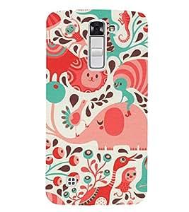 EPICCASE the caterpillar Mobile Back Case Cover For LG K10 (Designer Case)