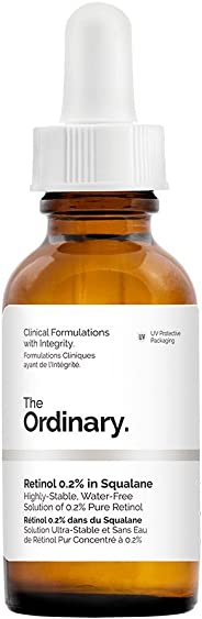 The Ordinary Retinol 0.2% in Squalane - 30ml, reduce the appearances of fine lines, of photo damage and of general skin agei