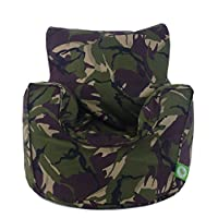 Cotton Army Camo Camouflage Green Bean Bag Gaming Arm Chair with Beans Child/Teen size By Bean Lazy