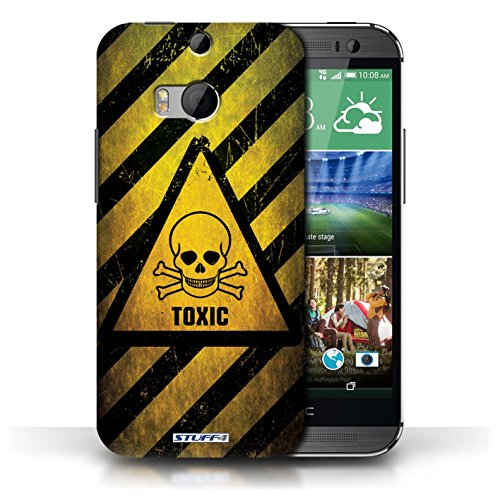 Coque de Stuff4 / Coque pour HTC One/1 M8 / Explosif Design / Signes de Danger Collection Toxique/Crâne