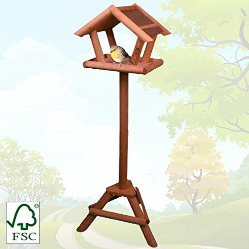 Vogelhaus mit Ständer 105cm / stabiles Holz / schneller Aufbau