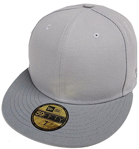Two Tone Fitted Cap (New Era Gray Storm Grau Dunkelgrau 2 Tone Blanc Blank 59fifty 5950 Fitted Cap Kappe Men)