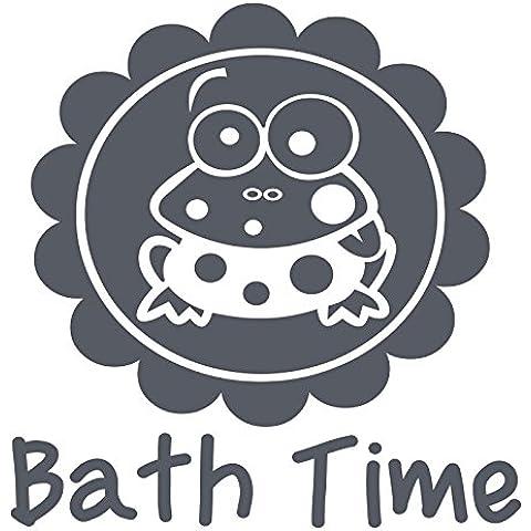 Gsbathroom_88 bagno con frogs. dimensioni 56 cm x 57 cm, disponibile in 18 colori convenzionale): Windows e da parete, adesivo da parete, per la stanza dei bambini di Windows Art-Adesivi per decalcomanie, ThatVinylPlace Dark Gray