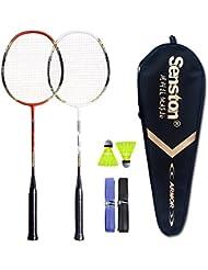 Senston 2 Raqueta de bádminton - Incluyendo bádminton Bolsa/2 raquetas