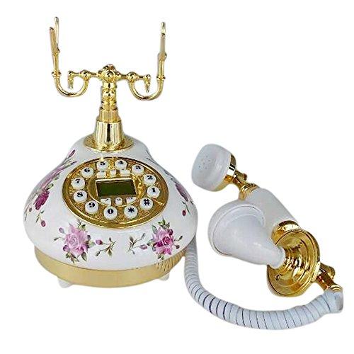 Teléfono Fijo Antiguo Vintage Retro Cerámica Casa