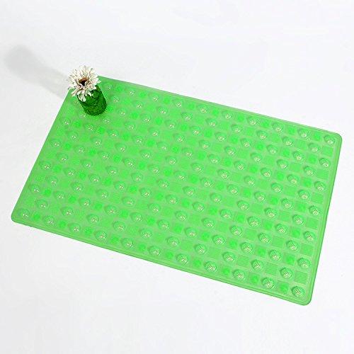 GFYWZ Tappetino da doccia bagno rettangolare in PVC , green , 50*80