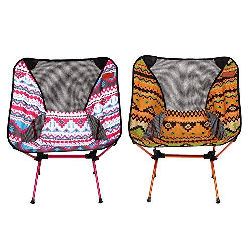 Portable Pêche Assise de chaise pliable léger Pêche extérieur Chaise de camping avec sac de rangement