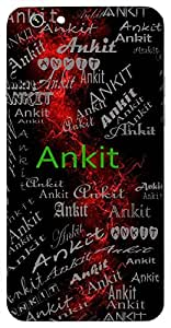 Ankit (Conquered) Name & Sign Printed All over customize & Personalized!! Protective back cover for your Smart Phone : HTC Desire 820