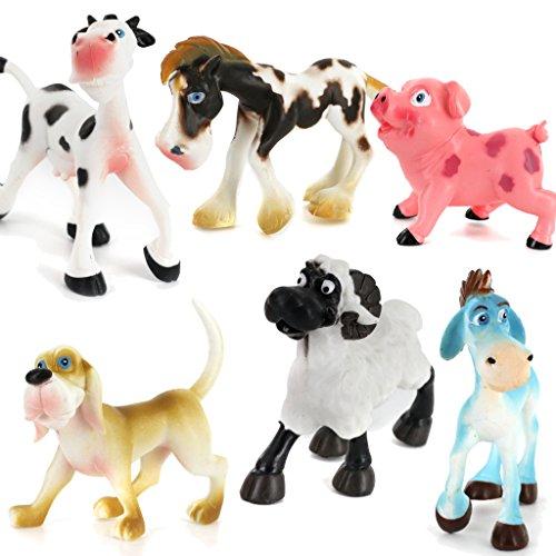 6pcs Plastic PVC Animals Models Set for Children Multicolor Gift Toys
