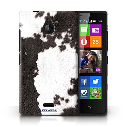 Kobalt® Imprimé Etui / Coque pour Nokia X2 Dual Sim / Vache/Brown conception / Série Motif Fourrure Animale Vache/Noir