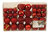 Exklusives Weihnachtskugeln Christbaumkugeln Set mit 100 Stueck Farbe Rot