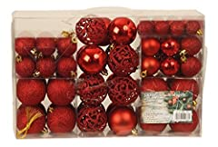 Idea Regalo - Esclusivo palline di Natale con{100} palline natalizie Set pz colore rosso