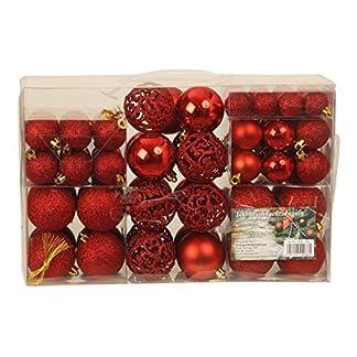 Mel O Design Set de 100x Bolas exclusivas para árbol de Navidad, Rojo