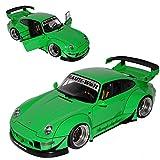 AUTOart Porsche 911 993 Carrera Coupe RWB Coupe Grün Rauh-Welt 1993-1998 78151 1/18 Modell Auto