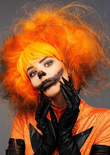 ween Halloween böse Kürbis Orange Perücke ()