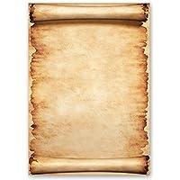 Papel de carta – Hojas estampadas PERGAMINO 20 hojas DIN A4