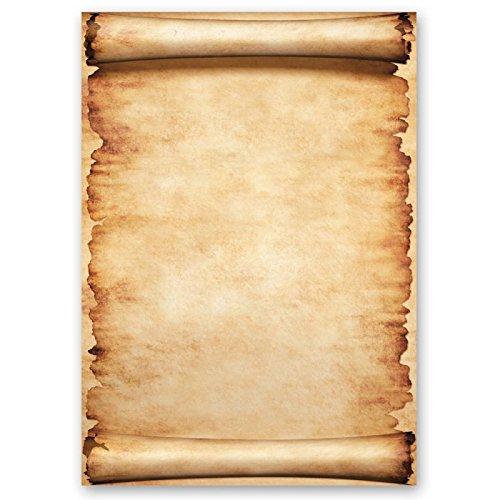 Papel de carta - Hojas estampadas PERGAMINO 20 hojas DIN A4