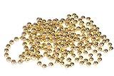 Clever Creations - Guirlande de Noël à Billes - Brillant/résistant aux Chocs - décoration de fêtes Classique/Traditionnelle - doré - 8 mm x 2,7 m...
