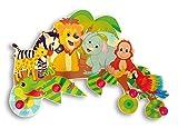 Hess Kindergarderobe Dschungel aus Holz, Circa 40 x 24 cm - 2