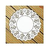 Aspire Papier-Spitzendeckchen, rund, Tischsets für Party-Tischdekorationen, 11,4–14cm, 140 Stück pro Pack, 5.5in